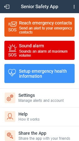 Senior Safety App, Senior GPS Tracker, SOS, Inactivity & Fall alert