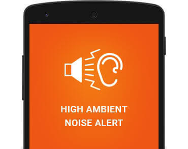 High ambient noise alert